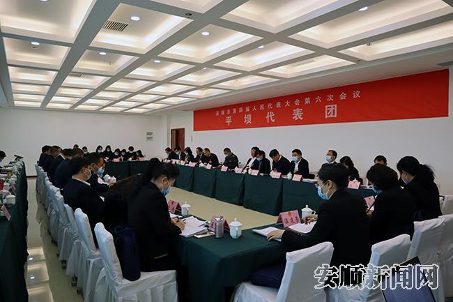 平坝l代表团分组审议,代表纷纷发言。.jpg