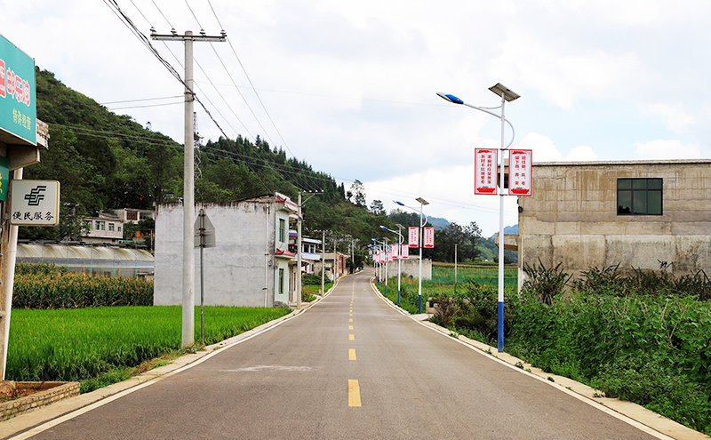 沙营镇前进村公路卫生有了质的转变.jpg